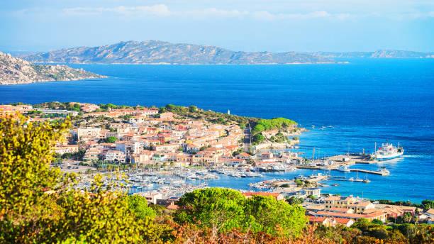 landscape of palau maddalena island in sardinia - sardegna foto e immagini stock