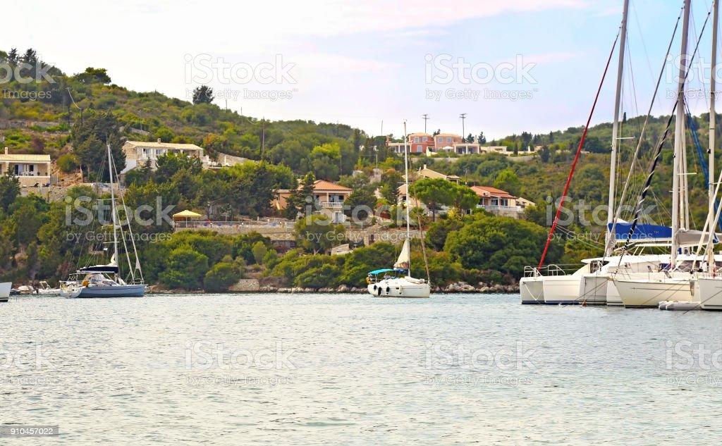 paisagem da Grécia de Paxos Ilhas Jónicas - foto de acervo