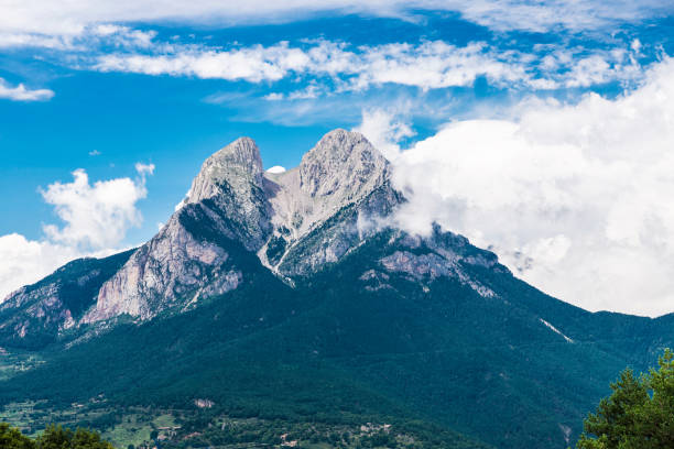 Landschap van Pedraforca in Catalonië, Spanje​​​ foto