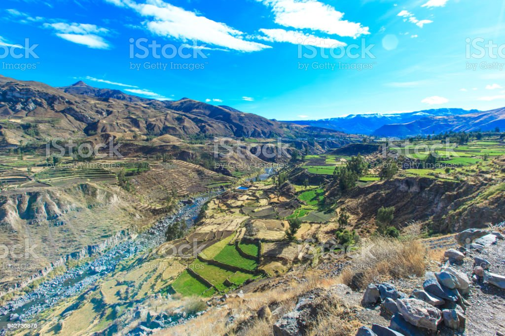 landscape of  Peru stock photo