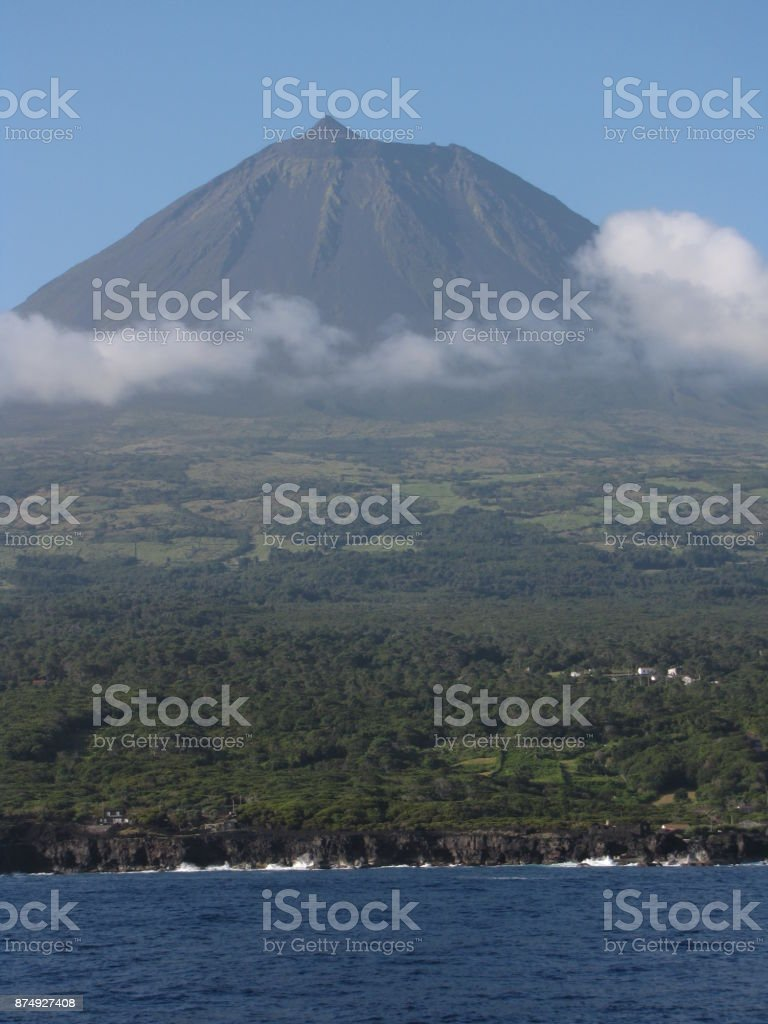 Landscape of Pico Island stock photo