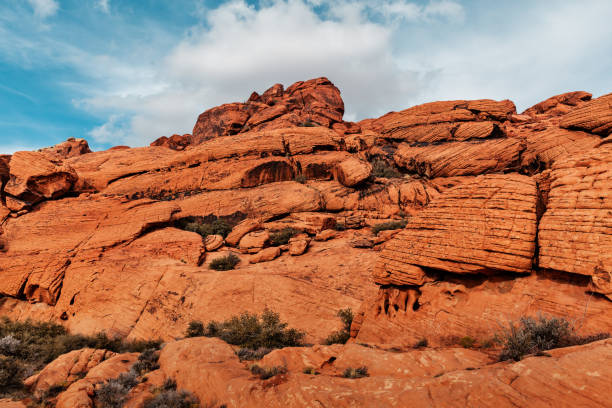 Landscape of Red Rocks at Red Rock Canyon, USA stock photo