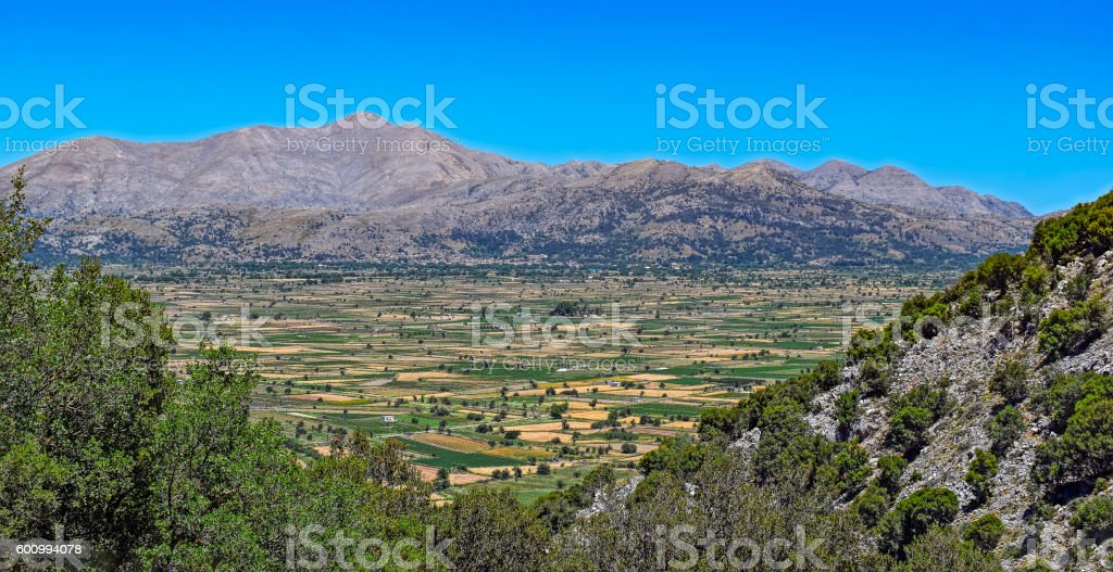 Landscape of rural Crete island - foto de acervo
