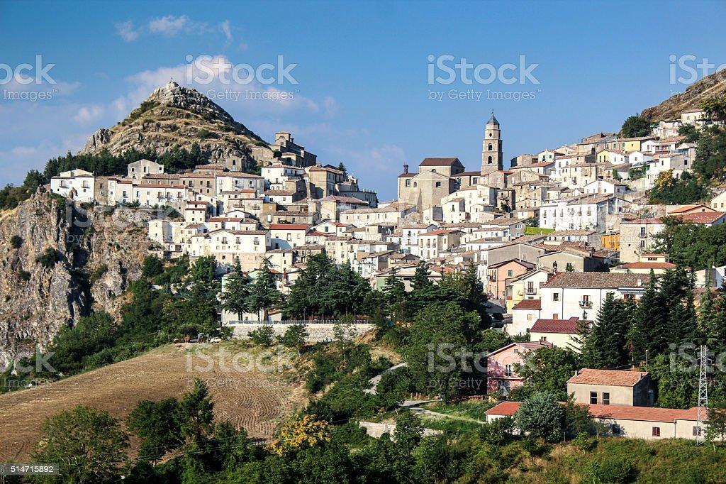 Landscape of San Fele Potenza Italy stock photo