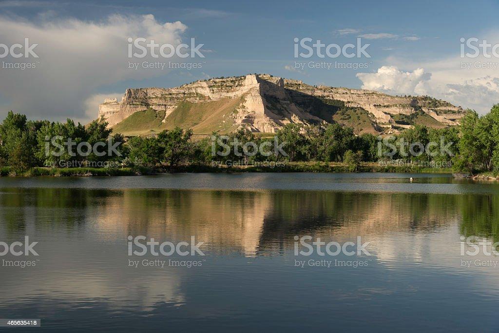 Landscape of Scott's Bluff National Monument stock photo