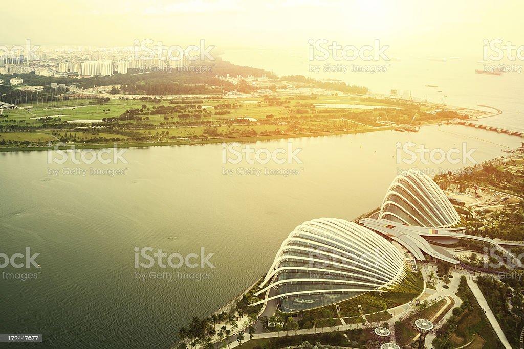 landscape of singapore royalty-free stock photo