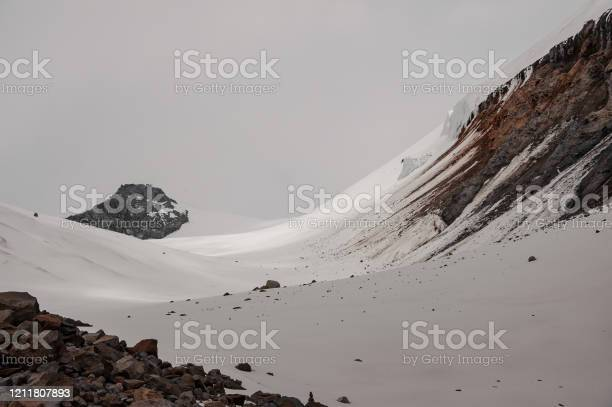 Photo of Landscape of smooth slope on side of mountain