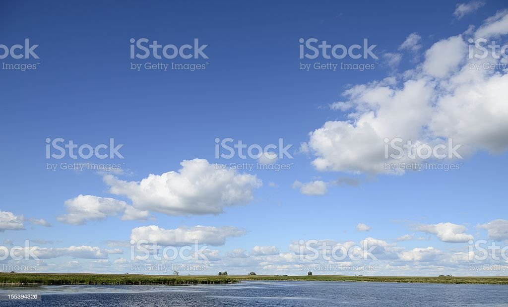 landscape of South Dakota and clouds royalty-free stock photo