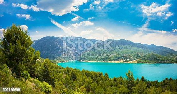 istock Landscape of St Croix Lake in Verdon Gorge, France 505175698