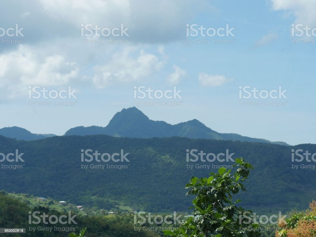 landscape of St. Lucia stock photo