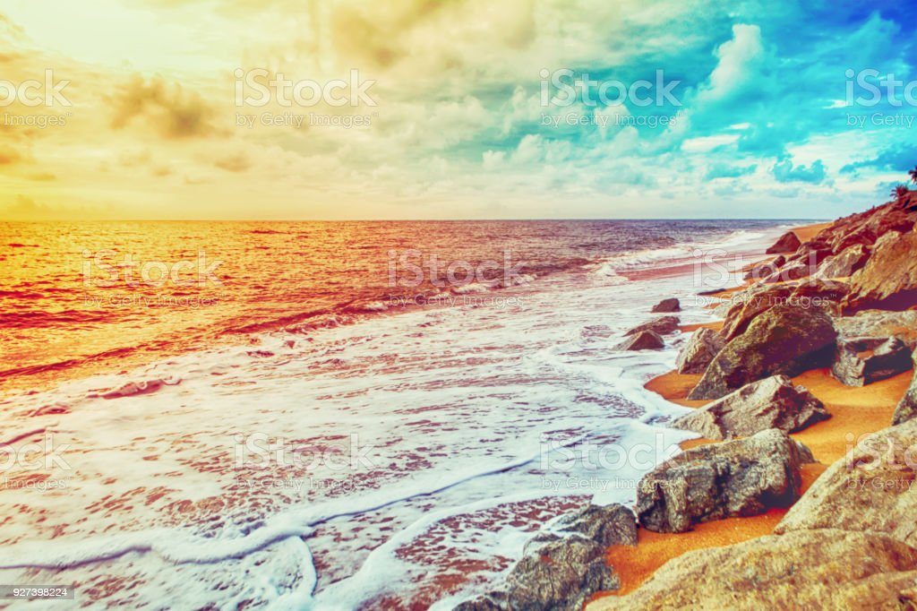 Landscape Of Stone And Sea Beautiful Beach Summer Wallpaper