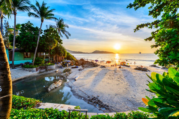 landscape of thailand - phuket stock photos and pictures