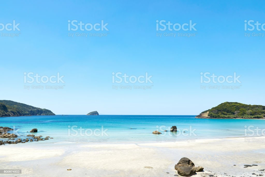 landskap av den vackra stranden bildbanksfoto