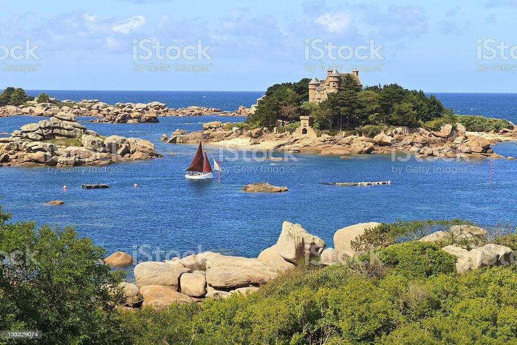 Côte de Granit Rose, bretonischen Küste nahe Ploumanach, Frankreich – Foto