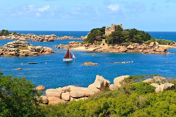 Côte de granit Rose, à proximité de la côte de Bretagne, France Ploumanach - Photo