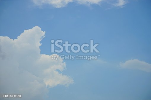 istock Landscape of the clear blue sky 1151414279