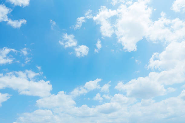 landscape of the clear sky - clouds stock photos and pictures