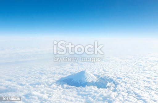 istock landscape of the clear sky with Mt. Fuji 916758008
