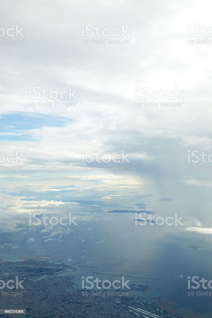 landscape of the cloudy sky zbiór zdjęć royalty-free