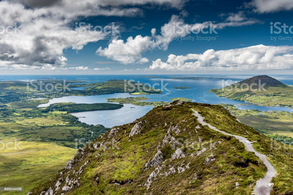 Landscape of the coast of Connemara stock photo