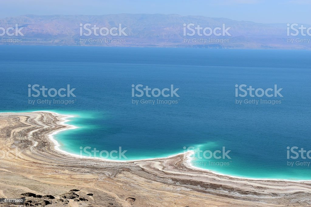 landscape of the Dead Sea, Israel stock photo