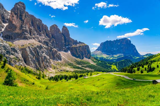 Landschaft der Dolomiten am Grödnerjoch – Foto