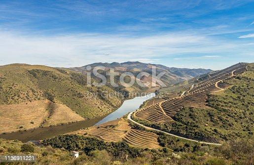 Near the mouth of the river Côa, in Vila Nova de Foz Côa, Portugal.