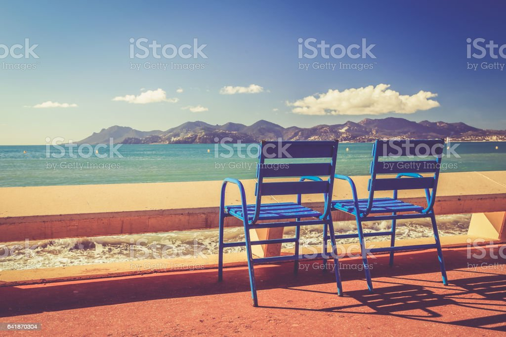 Landscape of the French Riviera: International Film Festival - Cannes - la Croisette - Alpes-Maritimes stock photo