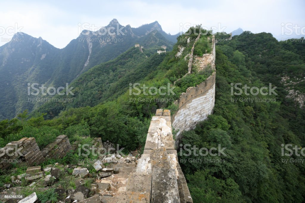 landscape of the great wall in china royalty-free stock photo