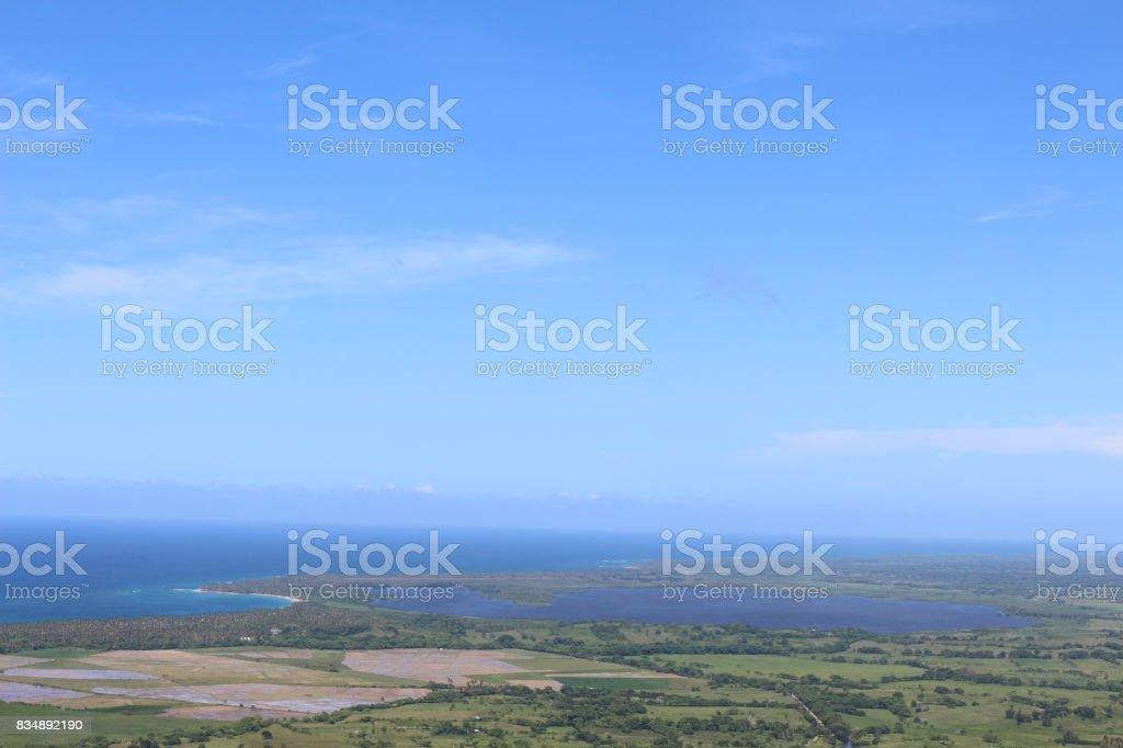 Landscape of the Lemon Lagoon stock photo