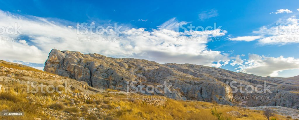 Landscape of the nature of Syria stock photo