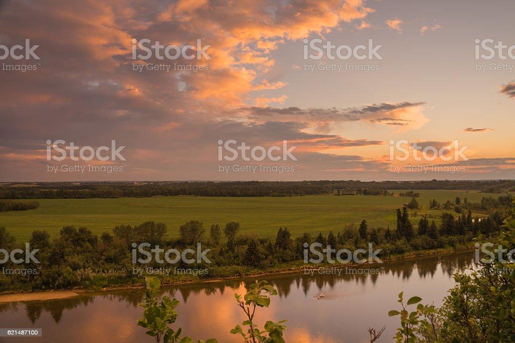 Landscape of the Red Deer River photo libre de droits