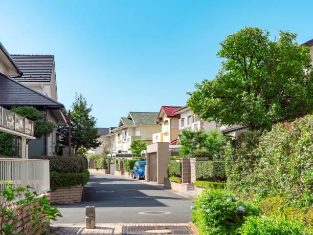 住宅地の景観 - 街 日本 ストックフォトと画像