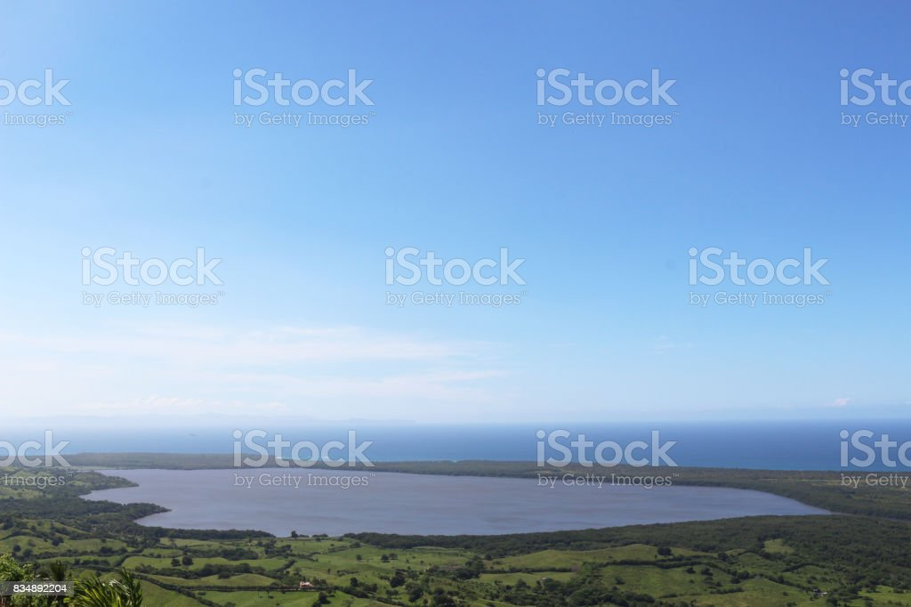 Landscape of the Rounded Lagoon stock photo