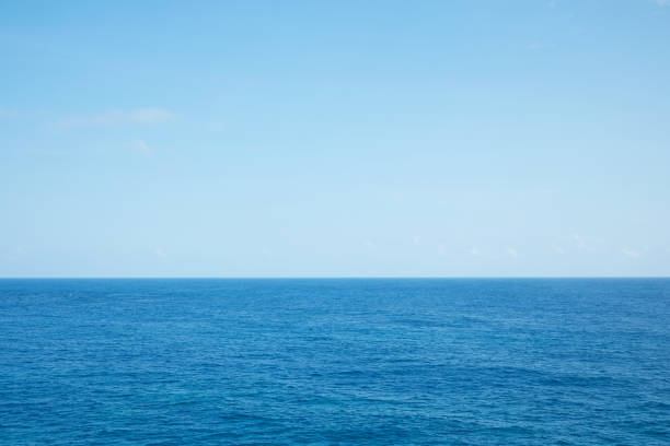 landscape of the sea and the sky landscape of the sea and the sky horizon over water stock pictures, royalty-free photos & images