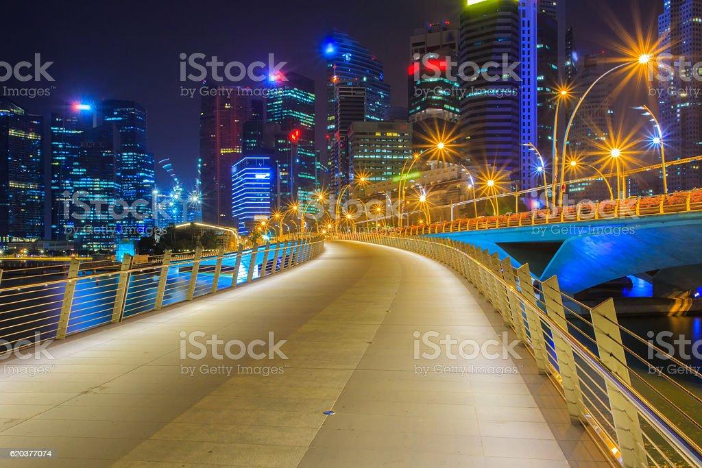 Krajobraz w finansowej dzielnicy Singapuru zbiór zdjęć royalty-free