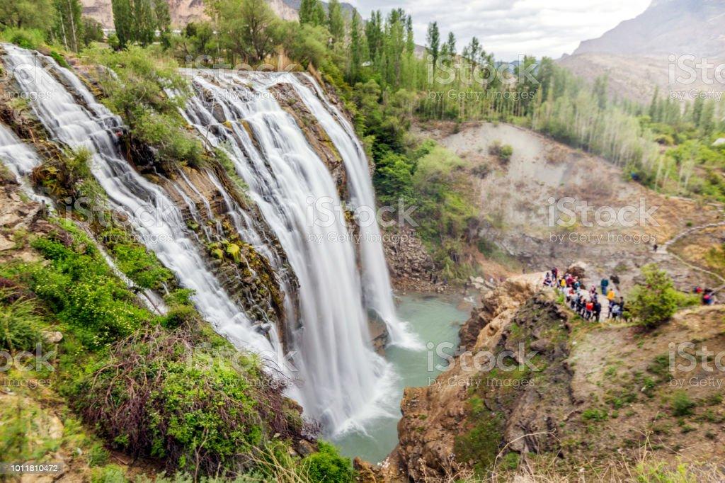 Landschap van de Tortum-waterval, Erzurum. - Royalty-free Azië Stockfoto