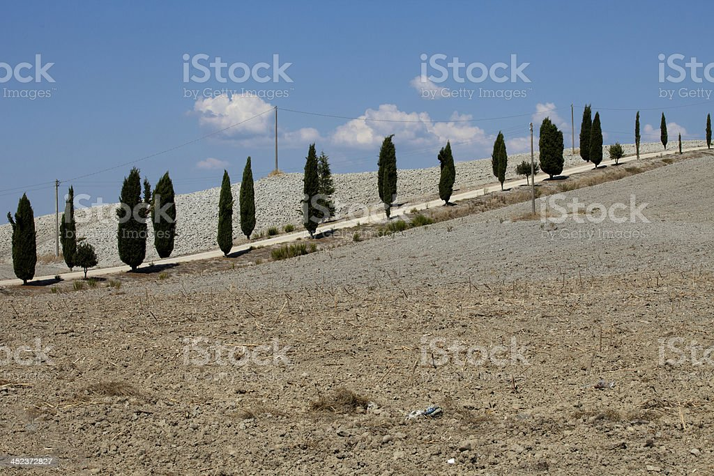 landscape of the  Tuscany royalty-free stock photo