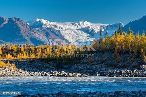 Landscape of the Wrangell st. Elias National park, McCarthy, Alaskaw
