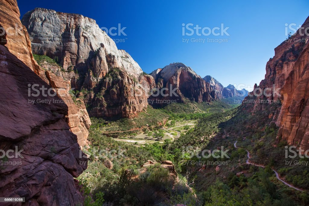 Landscape of the Zion National park, Utah, USA royalty-free stock photo
