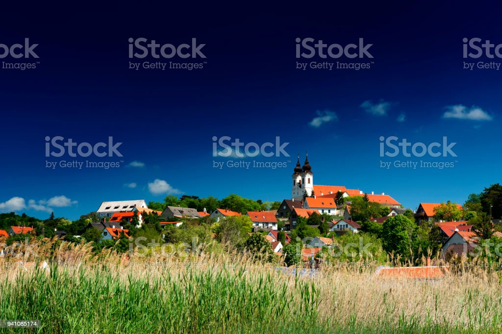 Landscape of Tihany at Lake Balaton , Hungary stock photo