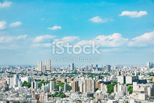 istock landscape of Tokyo city in Japan 1185984891