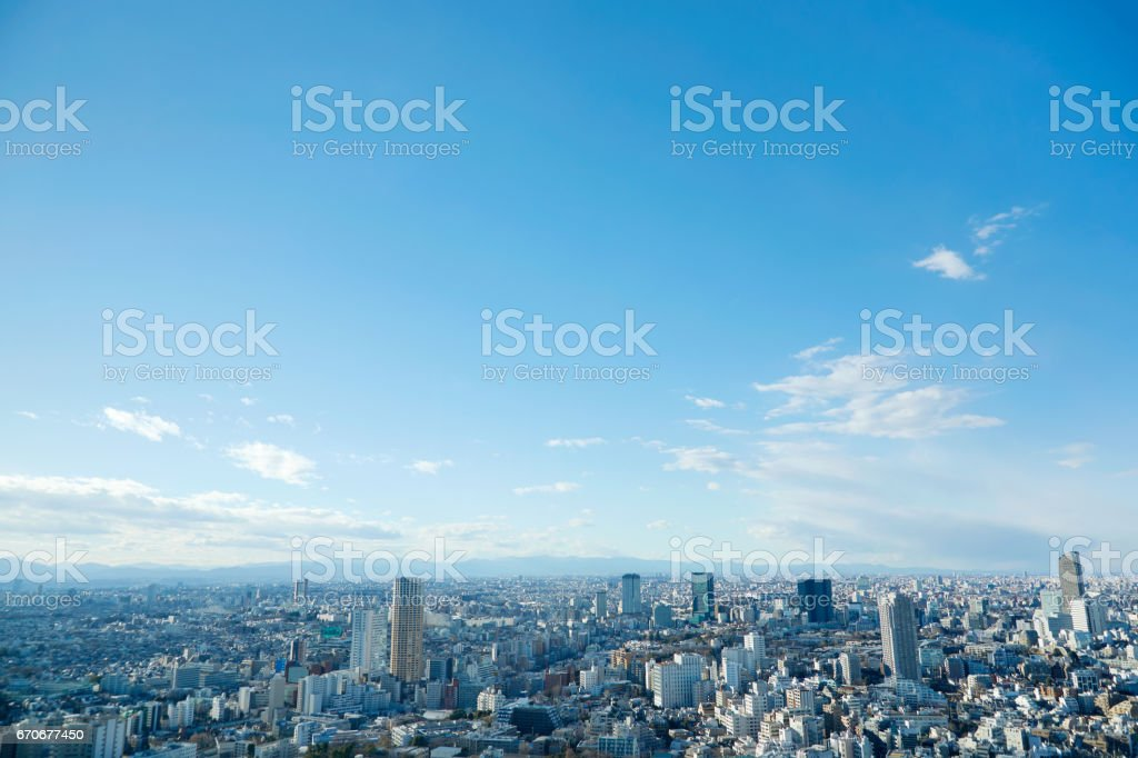 paisaje de la ciudad de Tokio - foto de stock