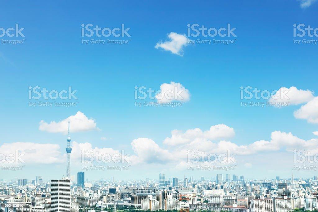 landscape of Tokyo city stock photo
