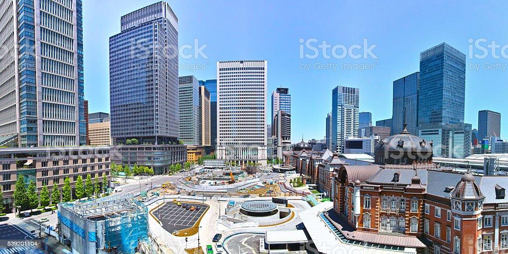 Landscape of Tokyo Station stock photo