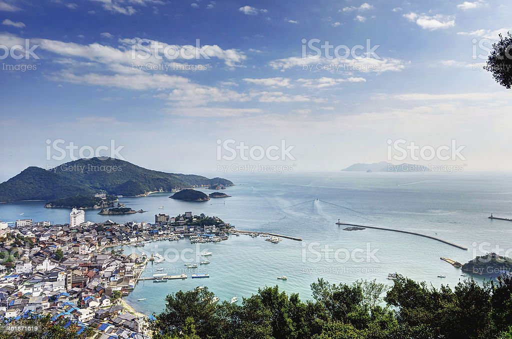 Landscape of Tomonoura stock photo