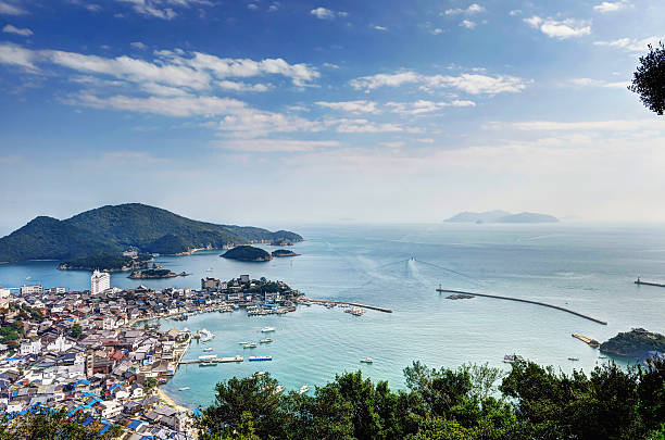 Landscape of Tomonoura Landscape of Tomonoura (in Fukuyama City, Hiroshima Prefecture, Japan) hiroshima prefecture stock pictures, royalty-free photos & images