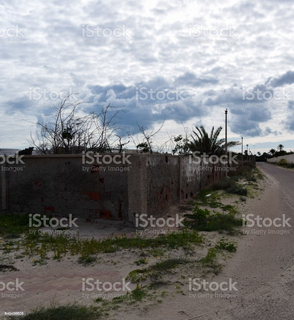 Landscape of Tunisia. Northern Africa stock photo
