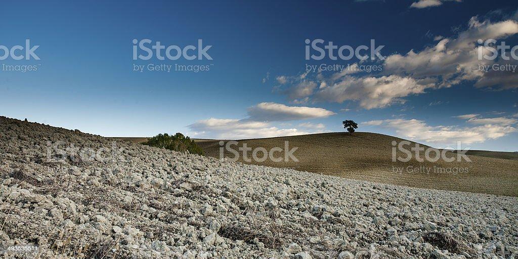 Landscape of Tuscany, Italy royalty-free stock photo