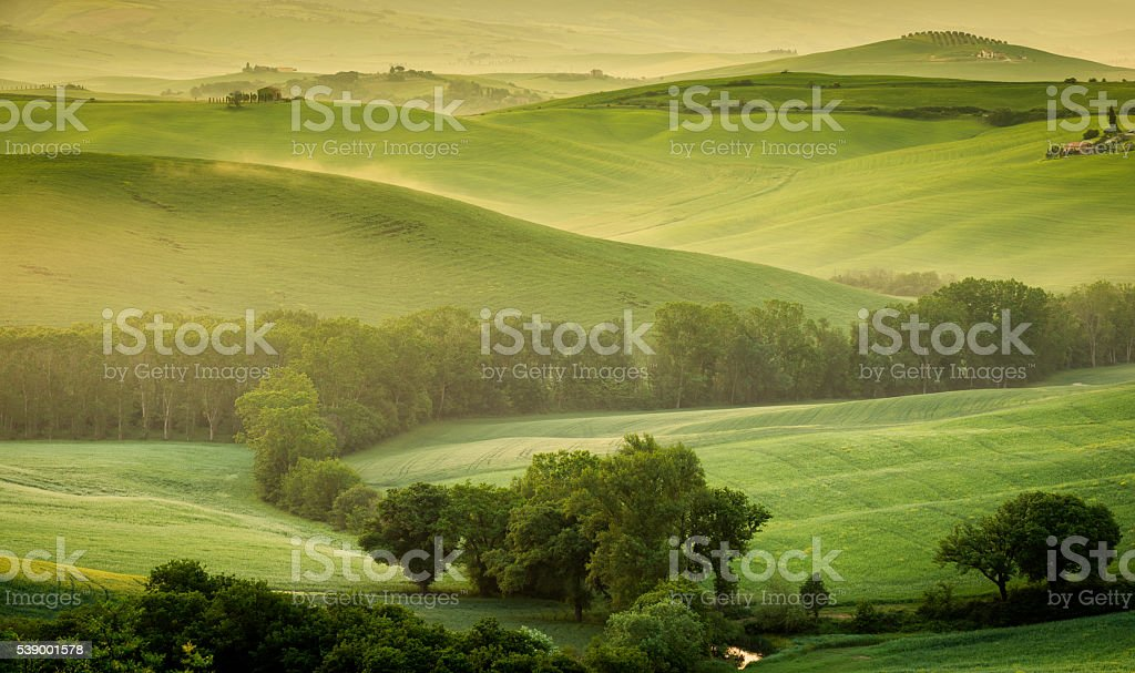 Landscape of Tuscany stock photo